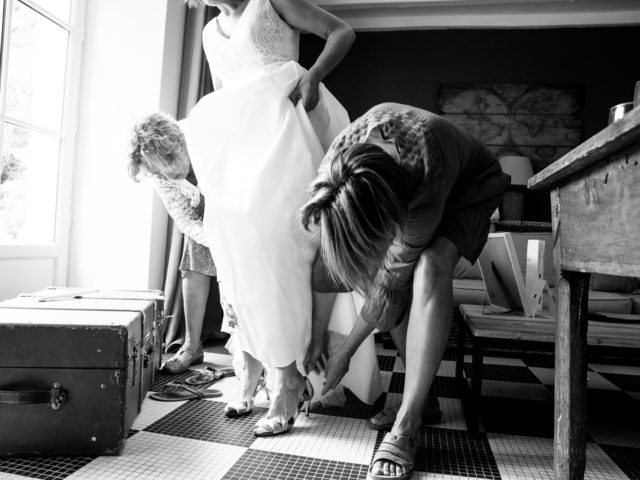 Robe de mariée-château Campbon-photographe-mlle danzanta